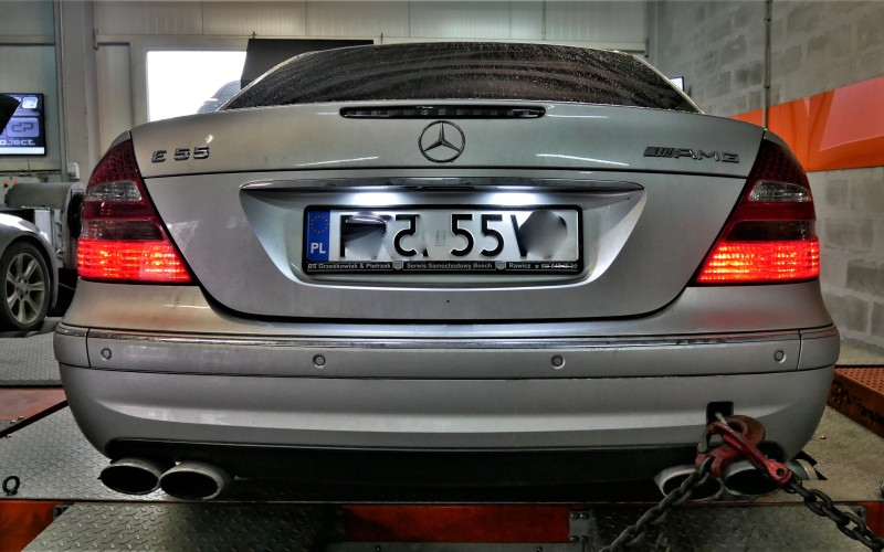 CHIPTUNING MERCEDES W211 E55 AMG 467KM – STAGE 1+