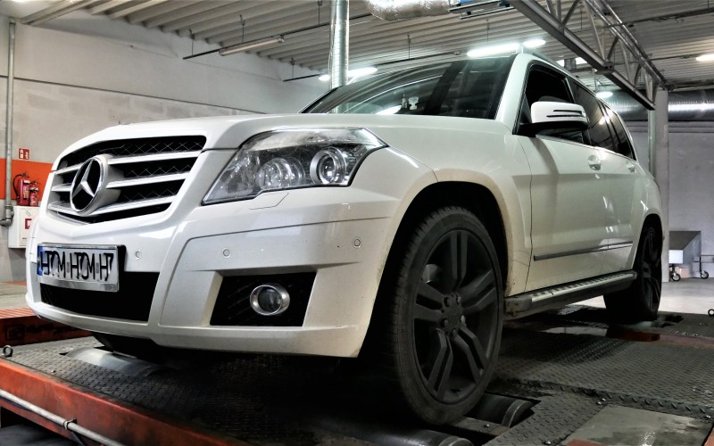 CHIPTUNING MERCEDES GLK 320CDI 224KM – STAGE 1 261KM 640NM