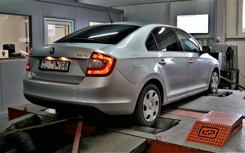 CHIPTUNING SKODA RAPID TDI 1.6 90KM – STAGE 1