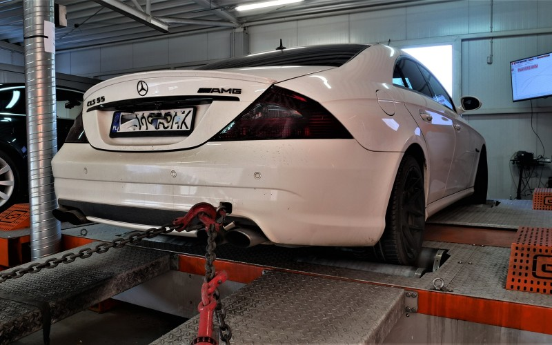 CHIP TUNING MERCEDES CLS 55 AMG 467KM – STAGE 1