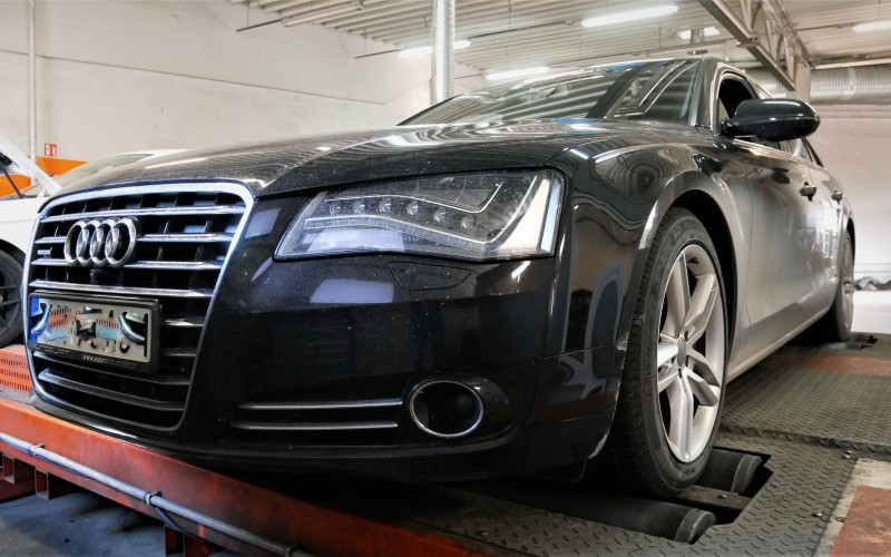 CHIPTUNING AUDI A8 D4 3.0TDI 250KM – STAGE 1